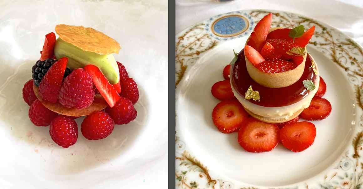 Le Grand Véfour fruits rouges et fraisier