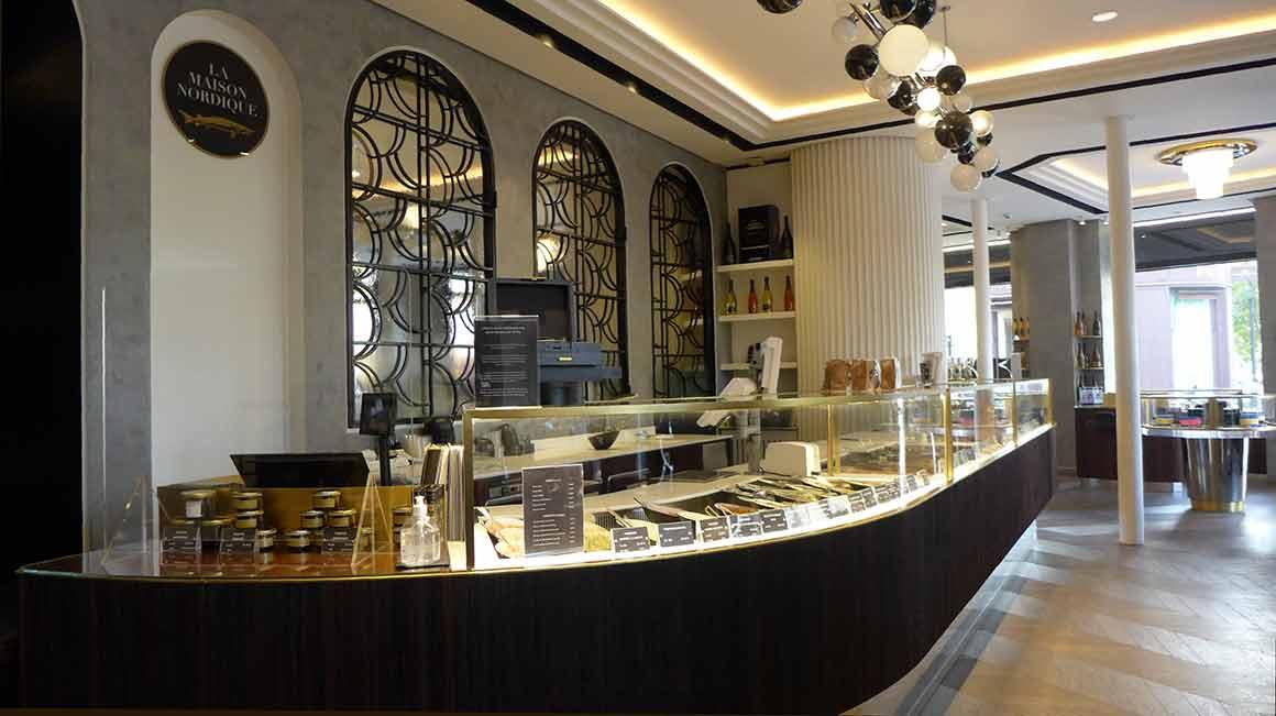 Restaurant La Maison Nordique comptoir des produits