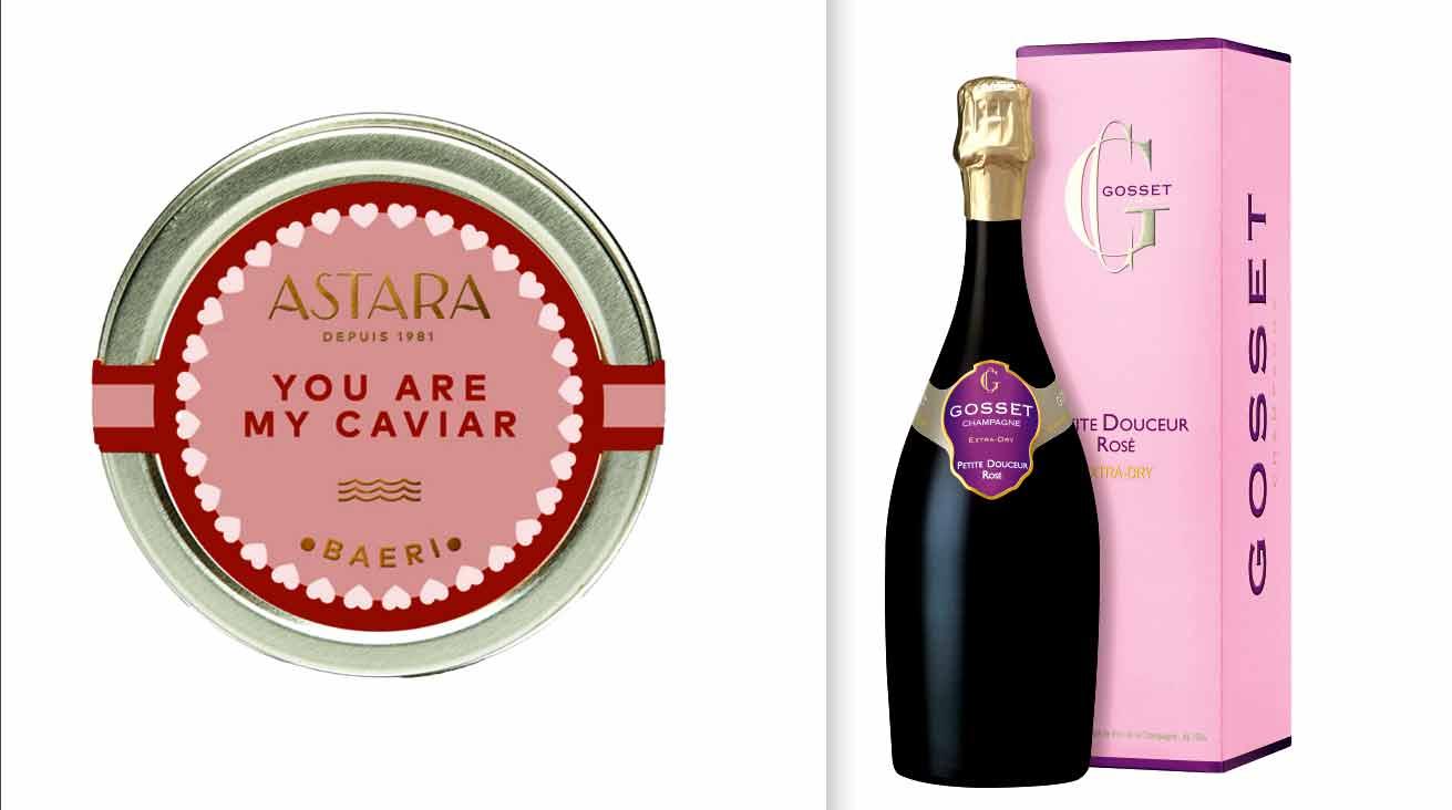 Saint Valentin Caviar Astara et Champagne Gosset