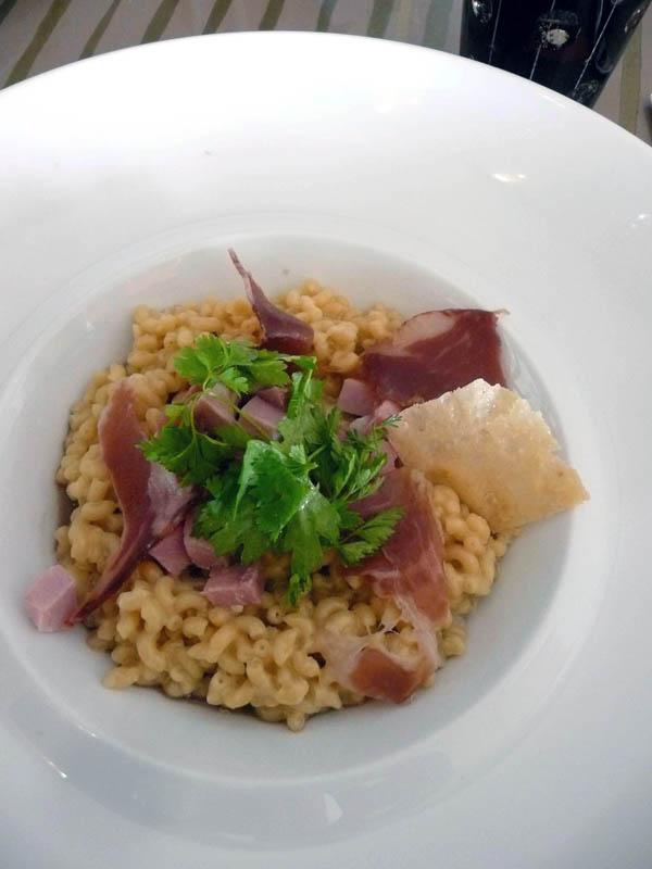 Restaurant 6 New York, les coquillettes façon risotto