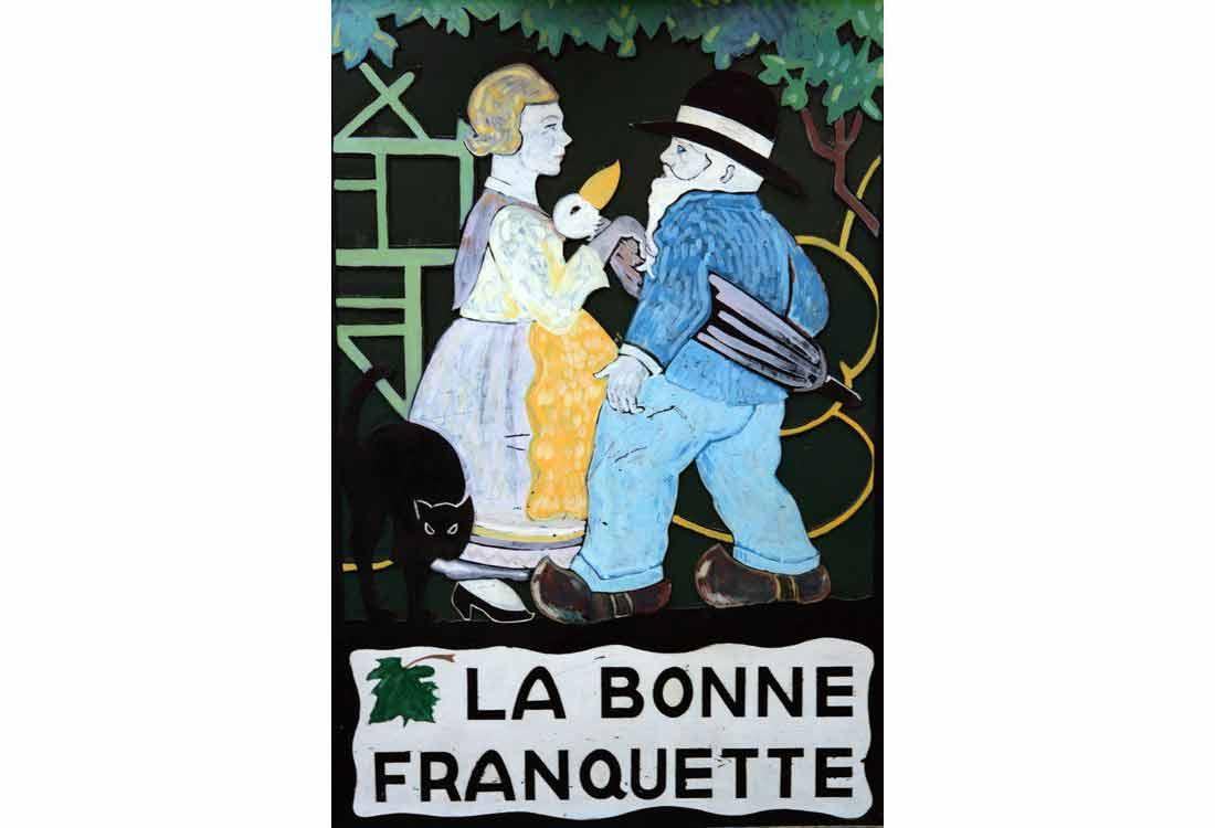 Restaurant A La Bonne Franquette, un tableau décoratif