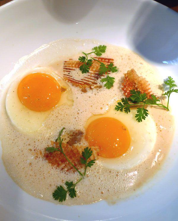 Restaurant A La Marguerite, Œufs au plat avec copeaux de foie gras