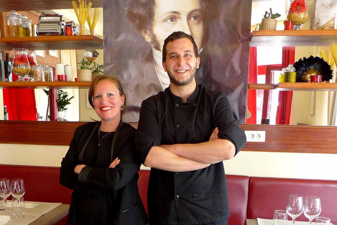 Aurélie Meziane et le chef Simon de Vivo