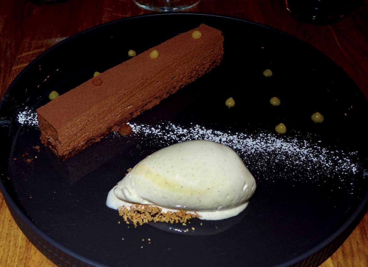 Restaurant A Noste, l'entremets chocolat-passion