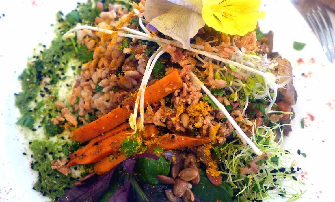 Restaurant Abattoir Végétal, Légumes crus et cuits