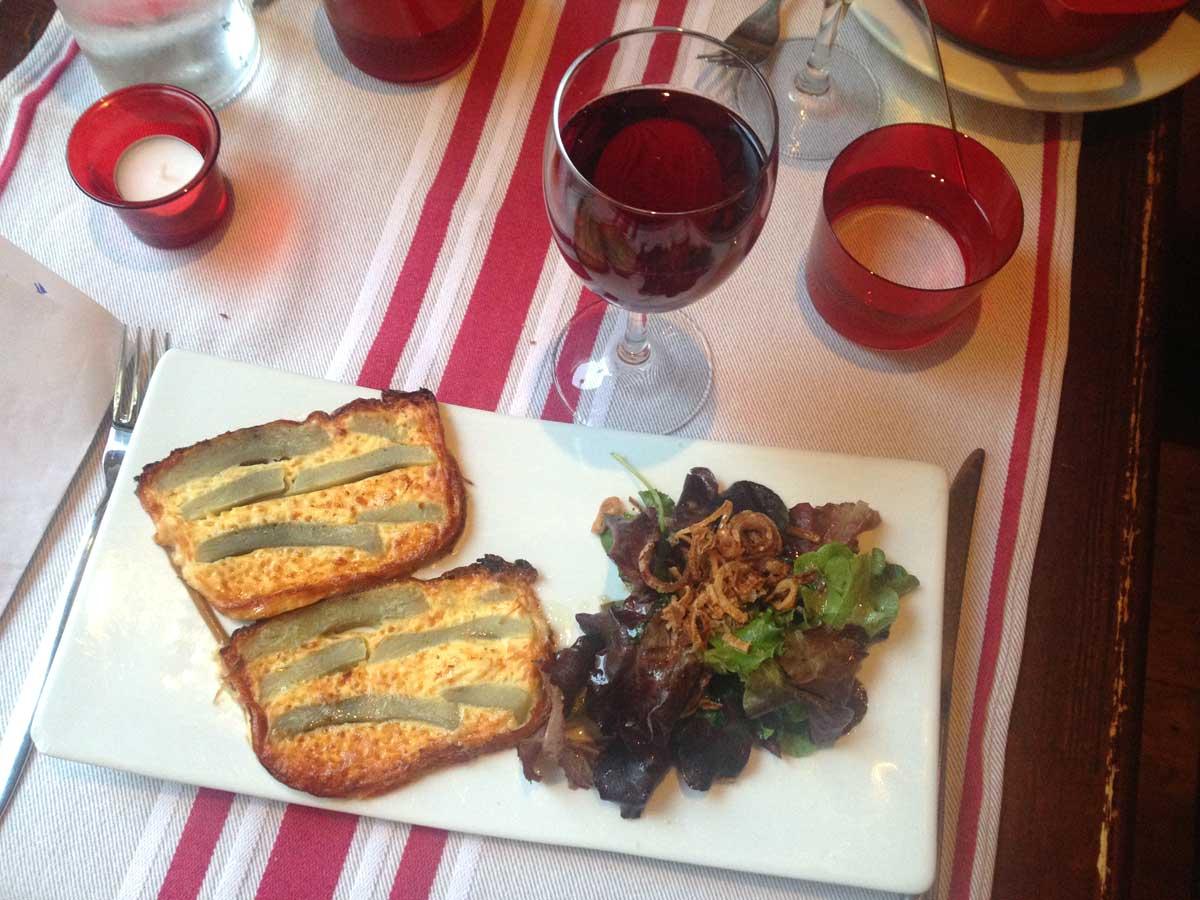Restaurant AFARIA, Terrine d'artichauts au lard fumé et au Comté