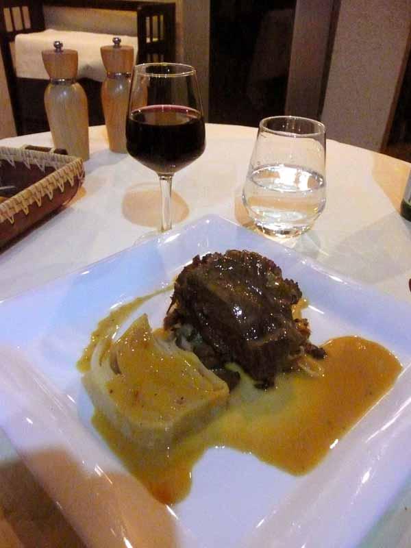 Restaurant Agapes, joue de bœuf fondante