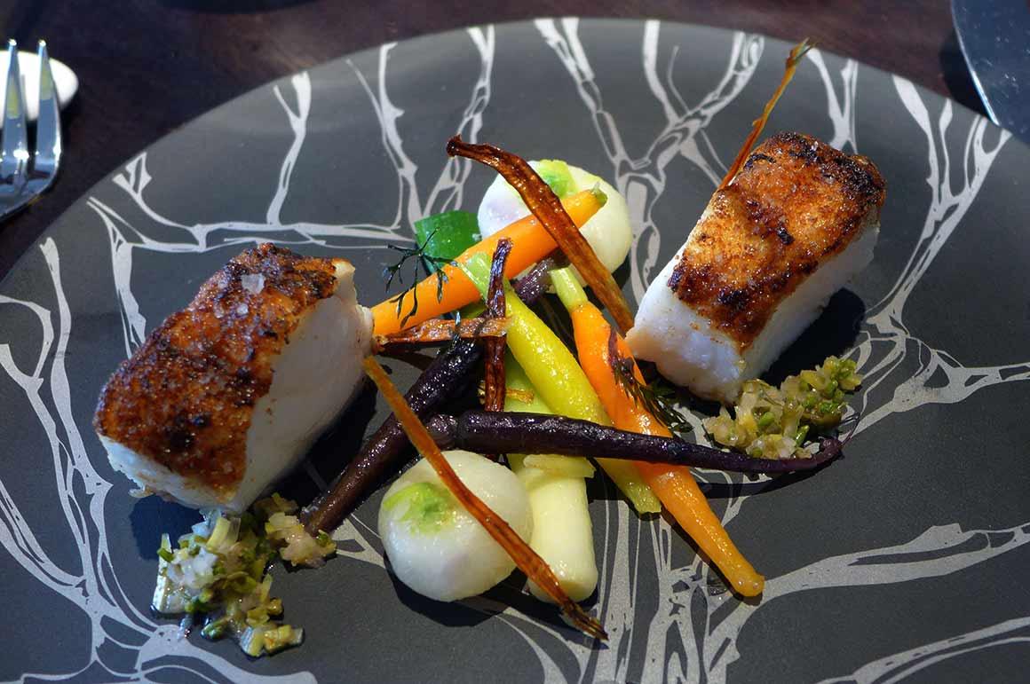 Restaurant Alan Geaam, La lotte et vadouvan au poireau