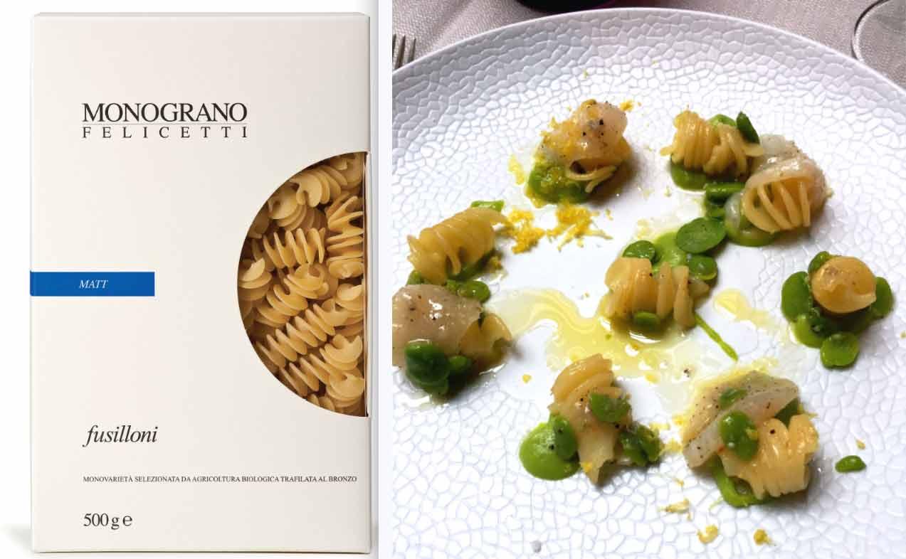 Restaurant Penati Al Baretto : Paquet de pâtes Monograno Felicetti et Fusillotti à la braise