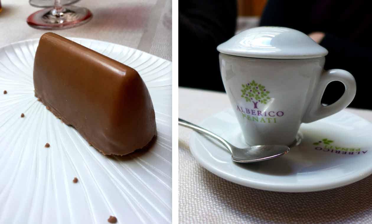 Restaurant Penati Al Baretto : Gianduitto aux noisettes et café de Alberto Penati.