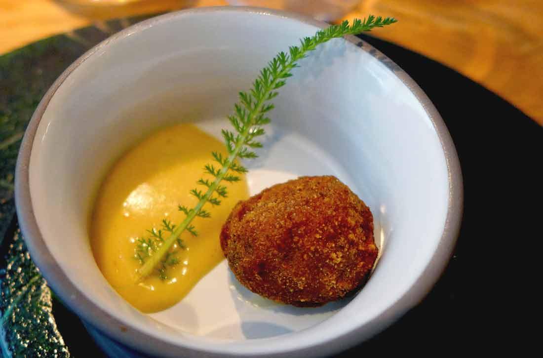 Restaurant ANONA, Cromesquis et aïoli