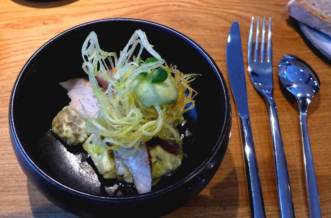 Restaurant ANONA, Le chinchard et pommes de terre