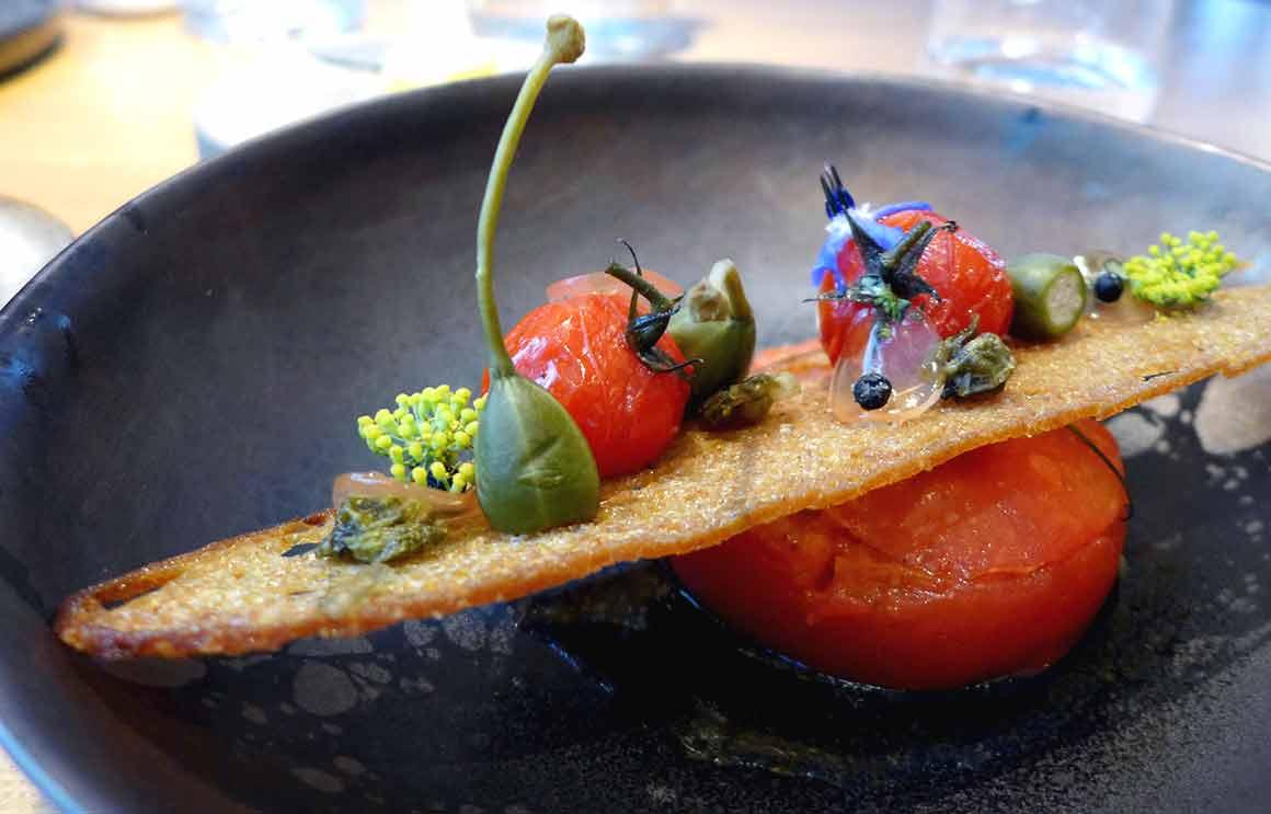 Restaurant ANONA, La tomate farcie à la tomate