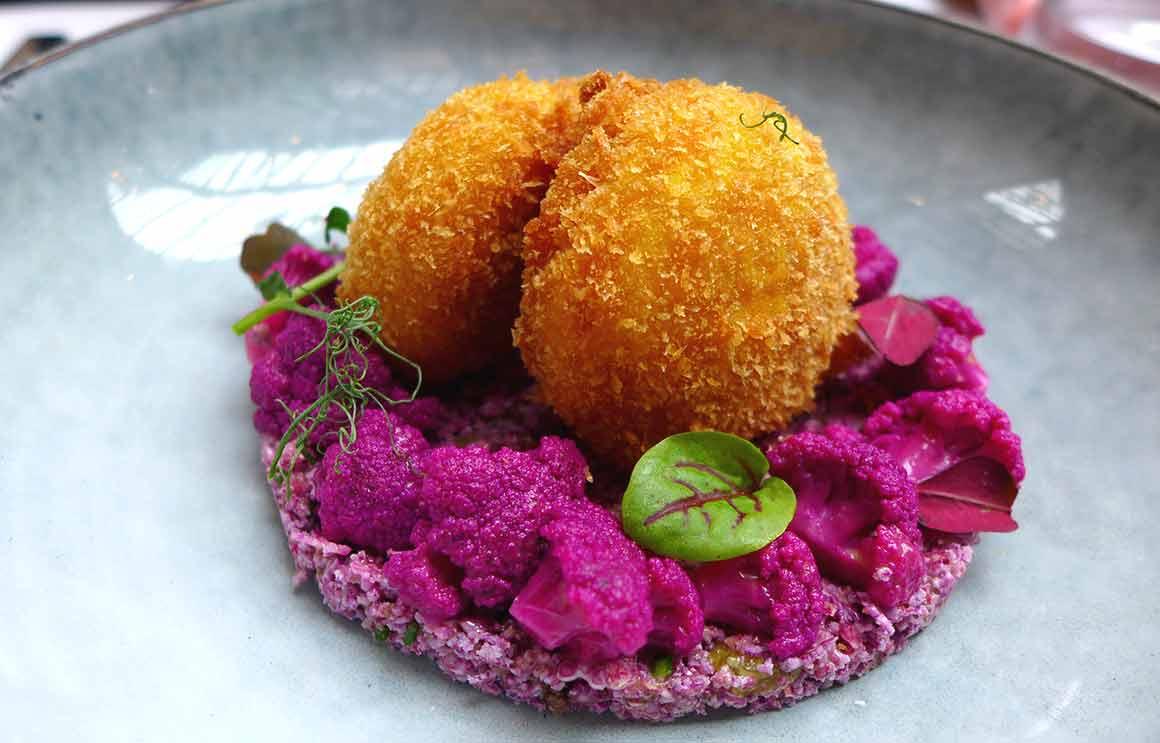 Restaurant Artcurial Sense Eat : Taboulé de choux fleurs violets