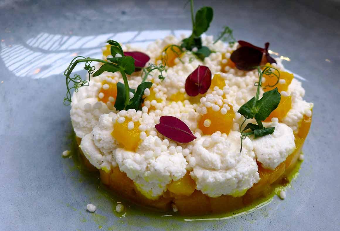 Restaurant Artcurial Sense Eat : Ricotta e Pere