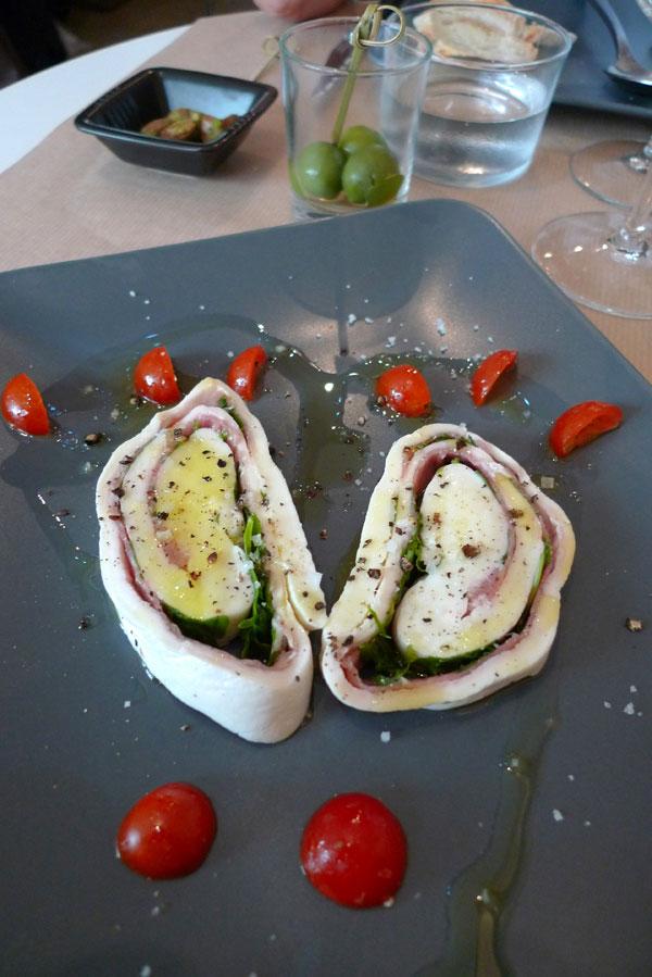 Restaurant Assaporare, Le rotolo di mozzarella