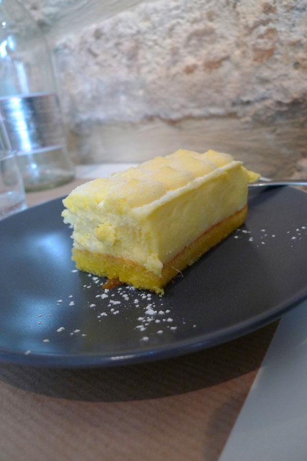 Restaurant Assaporare, tiramisu mousseux de François au citron