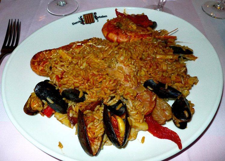 Restaurant Au Derrick Catalan : Paëlla Catalane