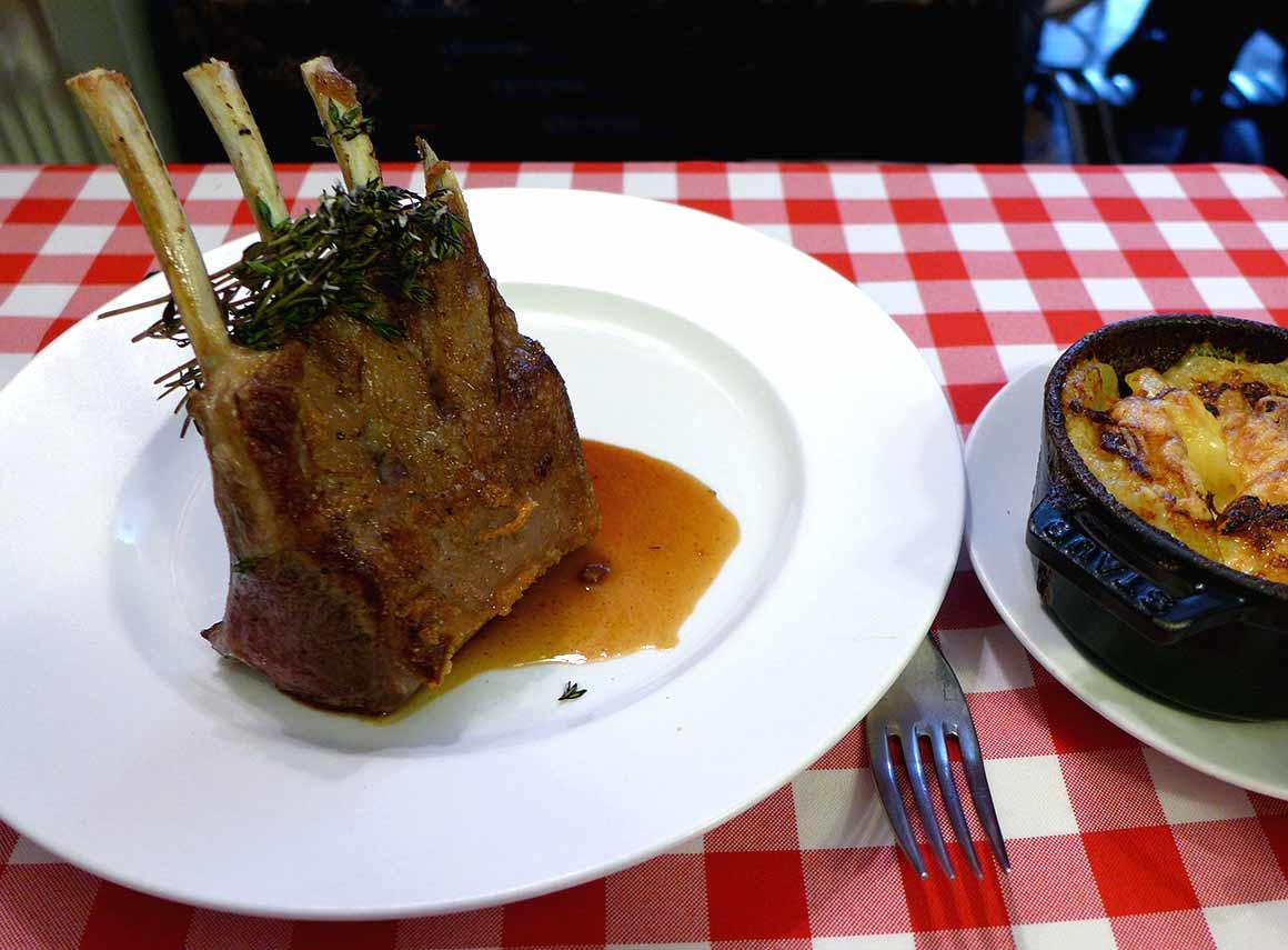 Restaurant Au Petit Tonneau, le carré d'agneau