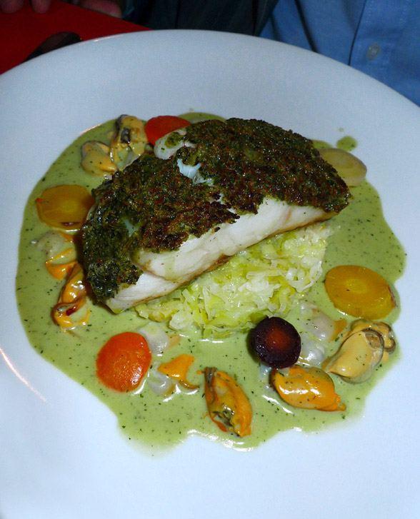 Restaurant Au Rendez-vous des Camionneurs : Lieu jaune cuit au plat