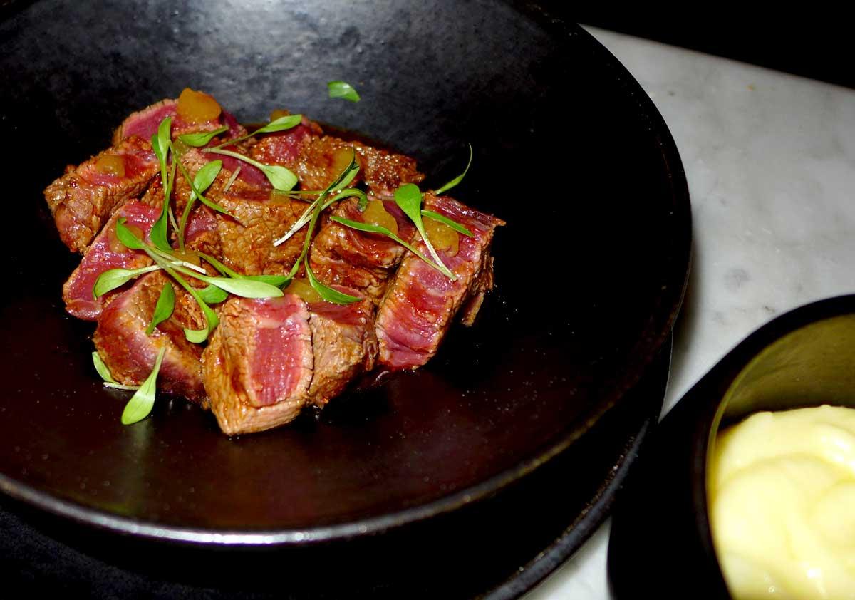 Bistrot AUX PRES : Filet de bœuf bio du Maine et Loire au sauté