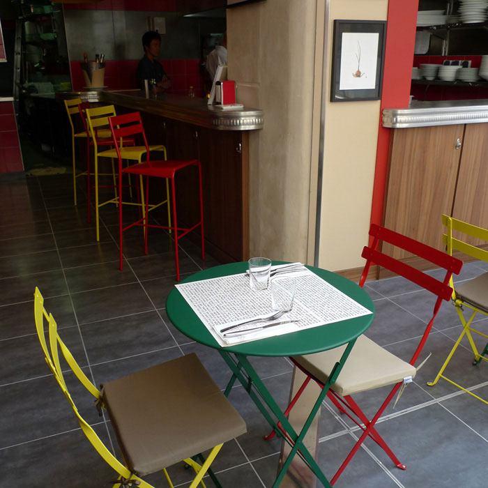 Restaurant Aux Verres de Contact, l'entrée