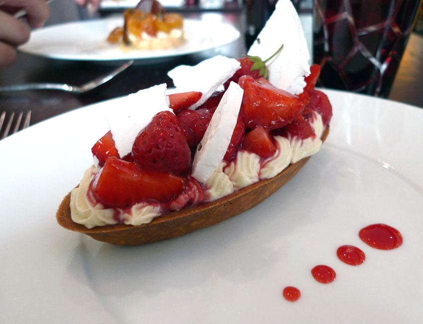 Restaurant Aux Verres de Contact, tarte