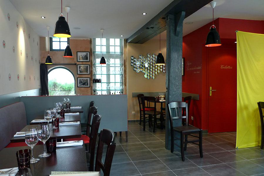 Restaurant Aux Verres de Contact, la salle