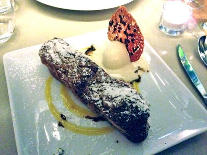 Restaurant Axuria, Eclair crème mousseline au Carambar