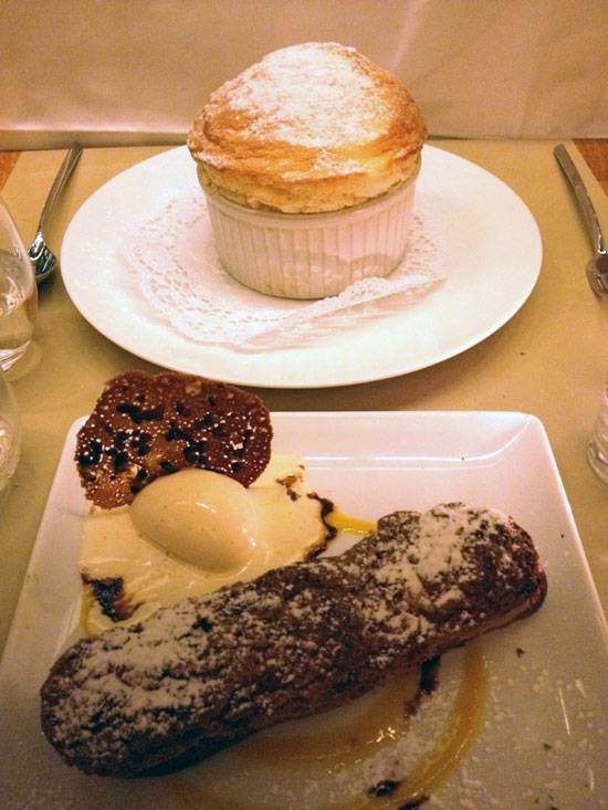 Restaurant Axuria, Les desserts