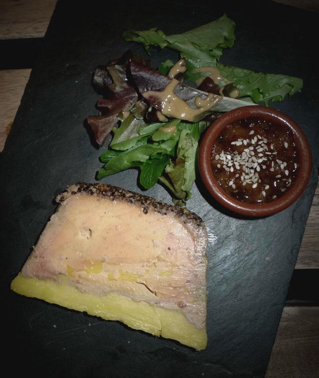 Restaurant Bang, Foie gras à la grappa