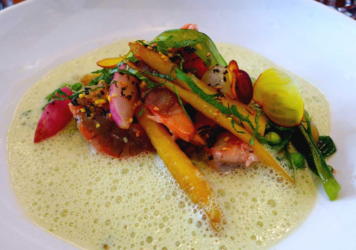 Restaurant Beckett : Salade de crevette Obsiblue