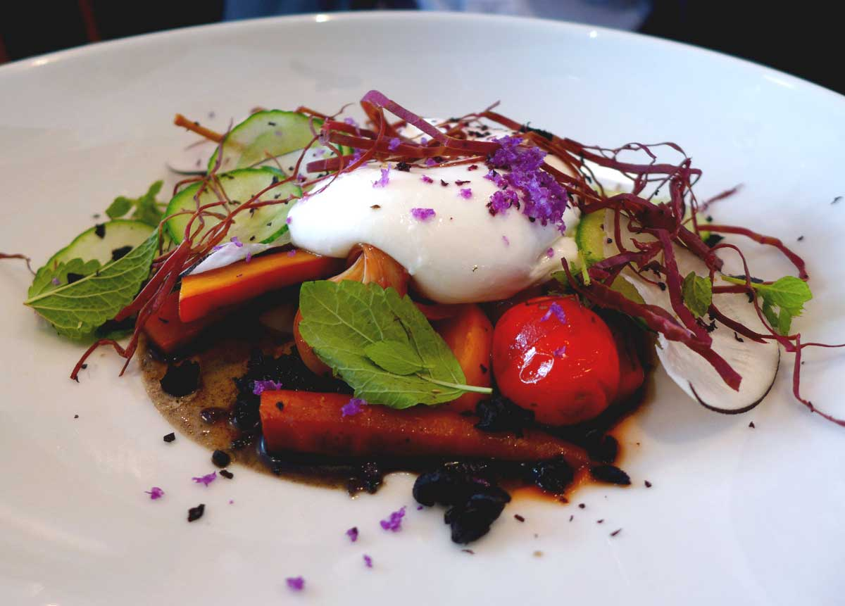 Restaurant Beckett : Burattina à l'oignon en escabèche