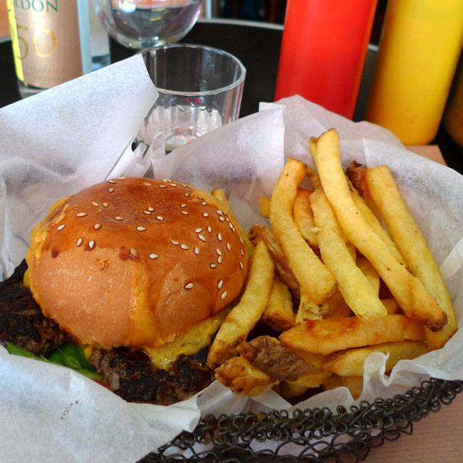 Restaurant Bedfor, Burger frites