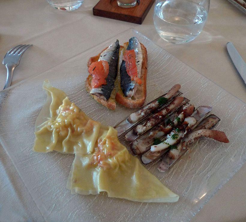 Restaurant Bernard du 15, Un assortiment d'entrées