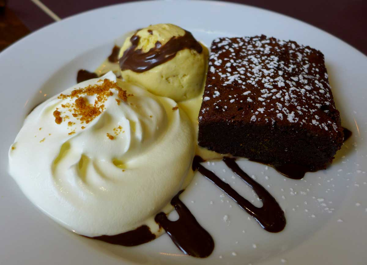 Restaurant Bieh : Brownie au chocolat