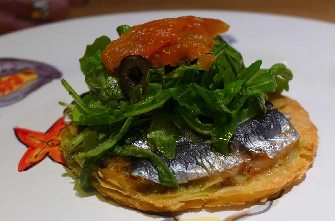 Bistrot de Marius, Tarte fine aux sardines et olives