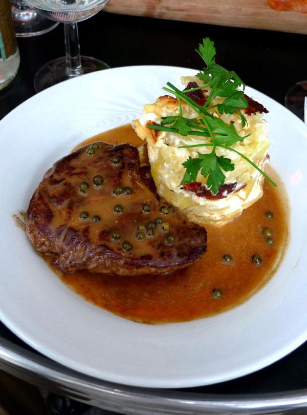 Bistrot Valois, filet de bœuf charolais sauce