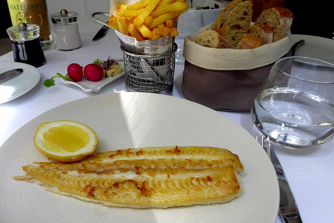 Restaurant Blossom : La sole dorée avec frites