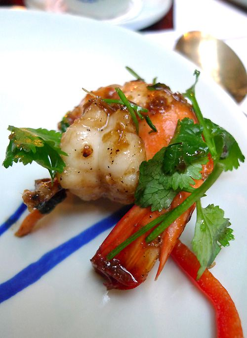 Restaurant Blue Elephant, blackpepeer prawn