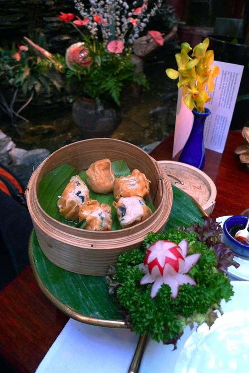 Restaurant Blue Elephant, Dim Sim au poulet et au crabe