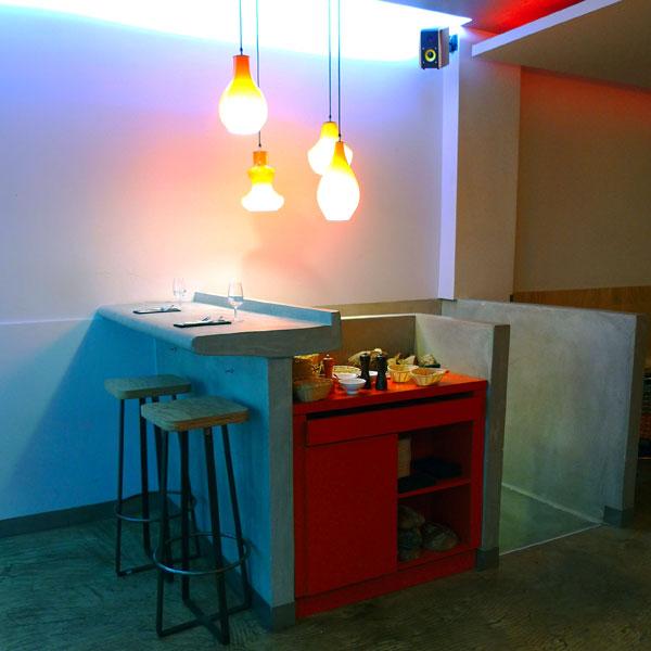 Restaurant Braisenville, Décoration contemporaine