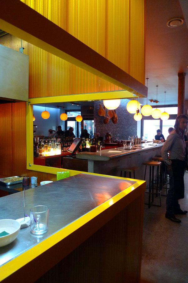 Restaurant Braisenville, Cuisine ouverte sur la salle