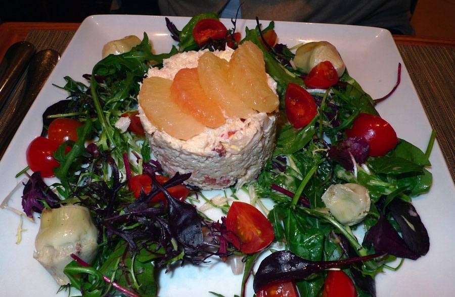 Bread & Roses, chair de tourteau décortiquée en salade