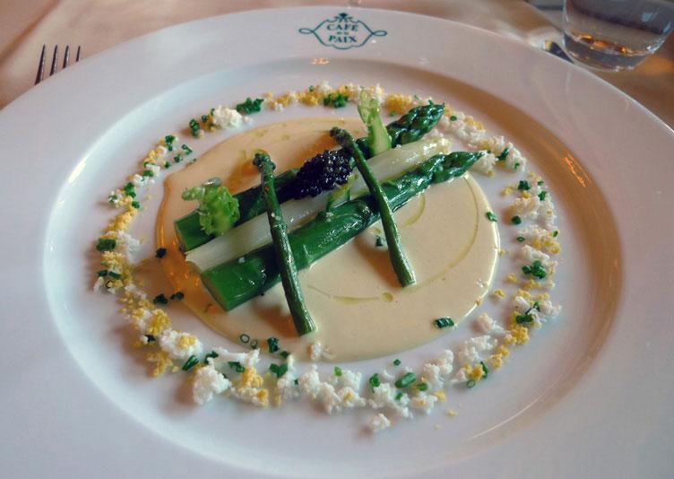 Café de La Paix, L'asperge verte de chez Latour et vinaigrette à l'oeuf