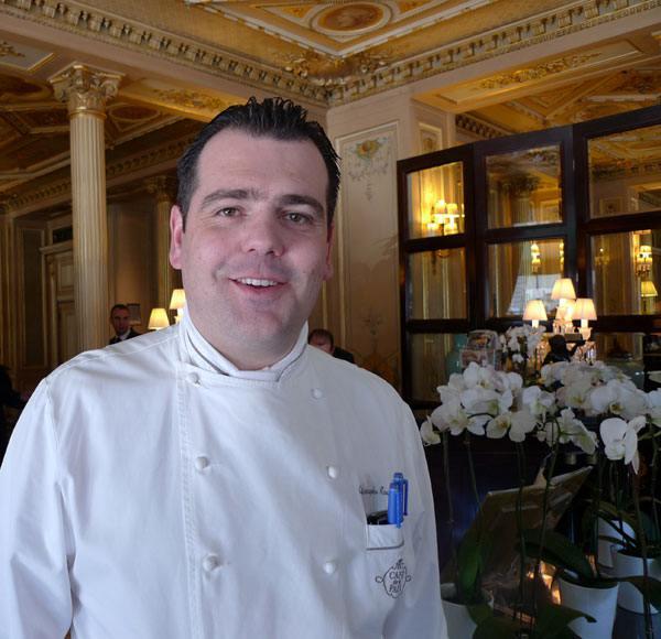 Café de La Paix, Le chef Christophe Raoux