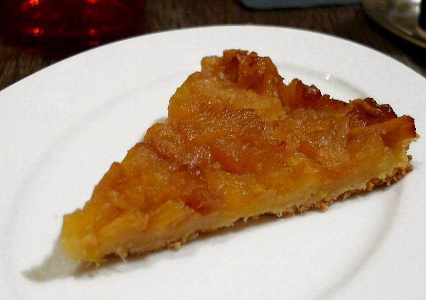 Le Café des Abattoirs, tarte à l'ananas