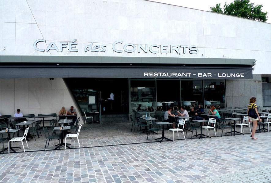 Café des Concerts, La grande terrasse