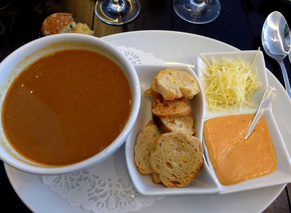 Restaurant Café des Ministères : Soupe de poissons