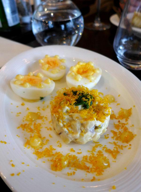 Restaurant Café Ludwig, Œuf dur avec petit tartare